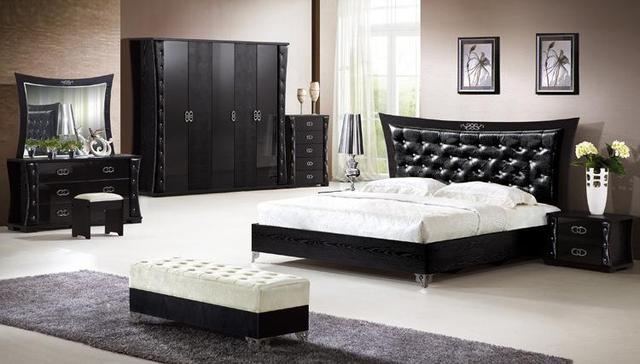 le moins cher moderne complete 5 pcs chambre ensemble de meubles de foshan chine
