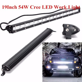 universele 19 inch 54 w auto led verlichting bar super heldere waterdichte spot flood combo light voor off road rijden suv hot selling