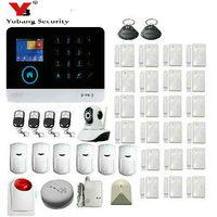 Yobang безопасности WI FI GSM PSTN охранной сигнализации Системы SMS RFID disalarm низкого заряда батареи приложение Управление охранной сигнализации Сист