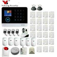Yobang WI-FI De Segurança GSM PSTN Sistema de Alarme de Segurança SMS RFID Controle APP Sistema de Alarme Disalarm Baixa Indicação da bateria