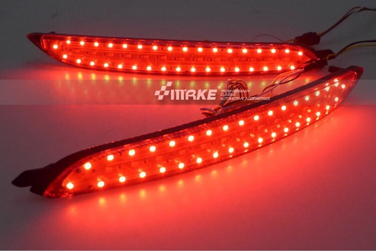 free shipping,LED Rear Bumper Light, rear fog lamp, Brake Light For Hyundai ELANTRA 2012-2013 with turn signal and warning light led rear bumper warning lights car brake lamp cob running light led turn light for honda civic 2016 one pair