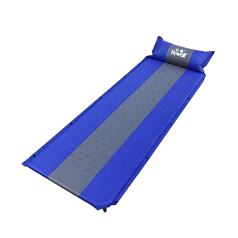 Hewolf Splicing Camping Automatic Mattress Sleeping Dampproof Pad Outdoor Single People Self Inflatable Cushion Including Pillow automatic inflatable cushion outdoor travelling sleeping bed pad camping mat sleeping picinic mattress pad self inflating