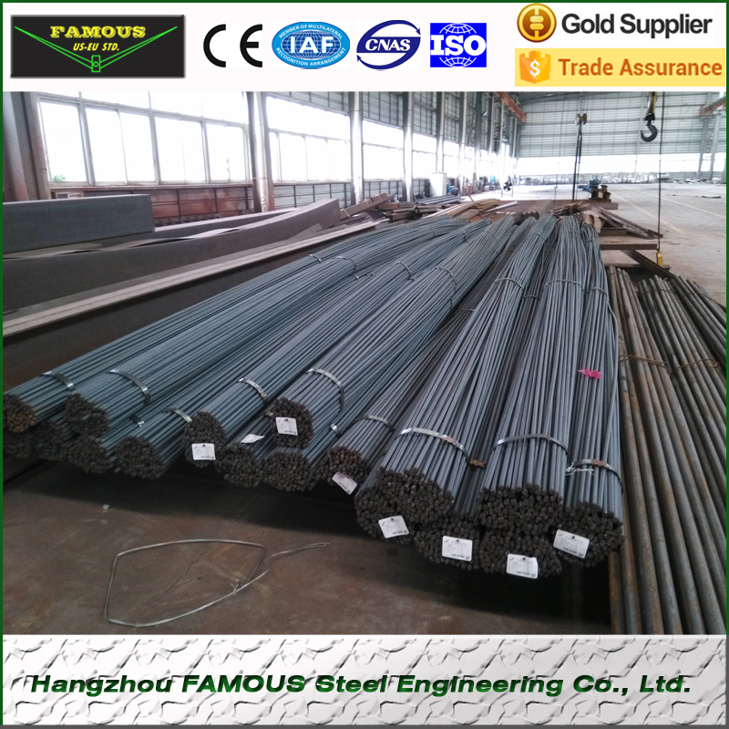 6-15mm Compressive Strength Reinforcing Steel Ribbed Bars Seismic Resistance 500E Rebars