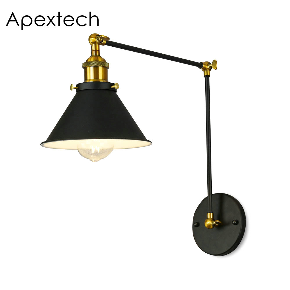 Apextech Wall Lamp American Vintage E27 Reading Light ...