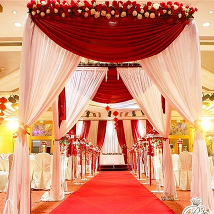 Canopy Wedding Decoration  Square canopy chuppah arbor drape with swag for wedding decoration  sc 1 st  flagrancy.us & Canopy Wedding Decoration: Wedding tent ideas that will leave you ...