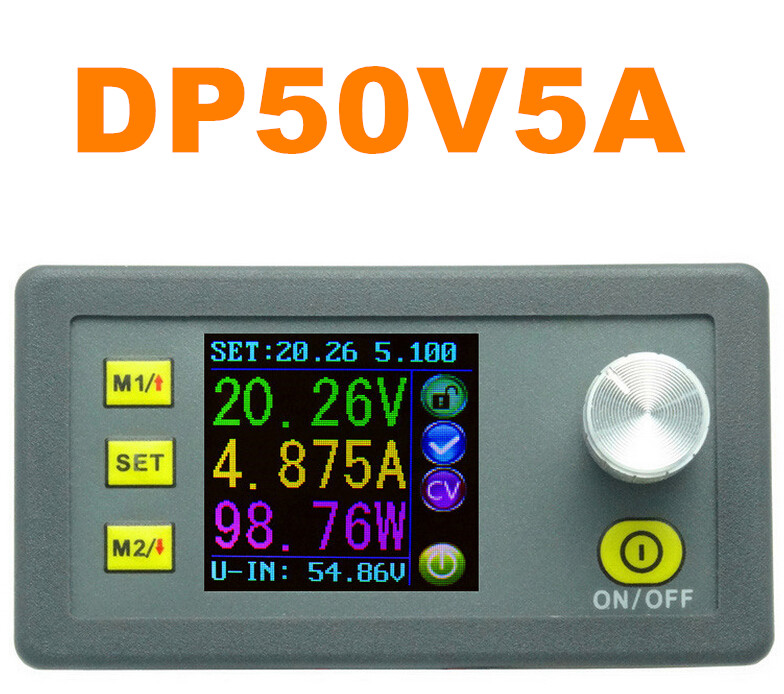 DP50V5A Constant Voltage tester Current meter LCD Display Voltmeter Step-down Programmable Power Supply Module Ammeter 13% off constant digital voltage current meter step down dp50v2a voltage regulator supply module buck color lcd display converter