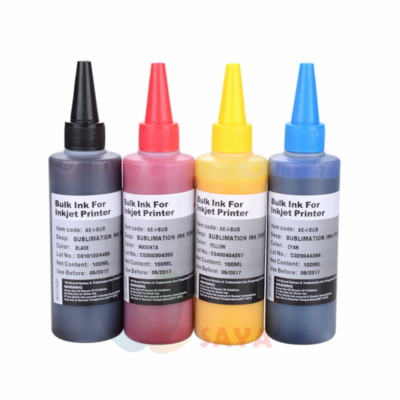 400ml Universal Sublimation Ink For Epson printer heat press sublimation heat transfer ink for mug cup t-shirt flag gift pillow