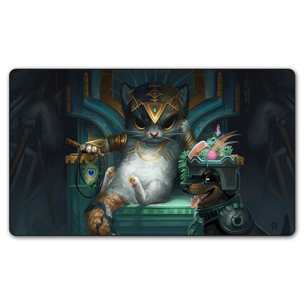(Tasipurr The Golden Paw) Limited Edition 35X60CM Magic Game Playmat MGT Cards Game Playmat Can be Custom Printe