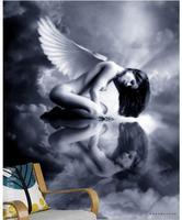 Personalizado de la foto 3d 3d tv murales de papel tapiz Clásico negro blanco y agua naked woman body art 3d wallpaper living habitación