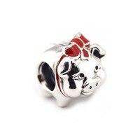 FANDOLA DIY Perlen Fit Charms Armbänder 925 Sterling Silber Sparschwein Perlen für Schmuck Machen Berloques Para Pulsera