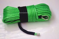 Green 16mm 40m Synthetic Winch Rope UHMWPE Rope For Electric Winch Plasma Winch Rope Towing Ropes