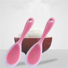 Силиконовая рисовая ложка, термостойкая лопатка для суши, ложка для еды, кухонные инструменты, посуда, плоский рисовый совок
