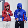 New year Jacket Girls Winter Down Coat White Duck Down Ultra Light Thin Children's Snow Parkas Kids Spiderman Outerwear GH270