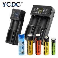 Ycdc поле Мощность Дисплей Универсальный Зарядное устройство + AA AAA 18650 литиевая Аккумуляторы nicd nimh один/два слота Батарея комплект