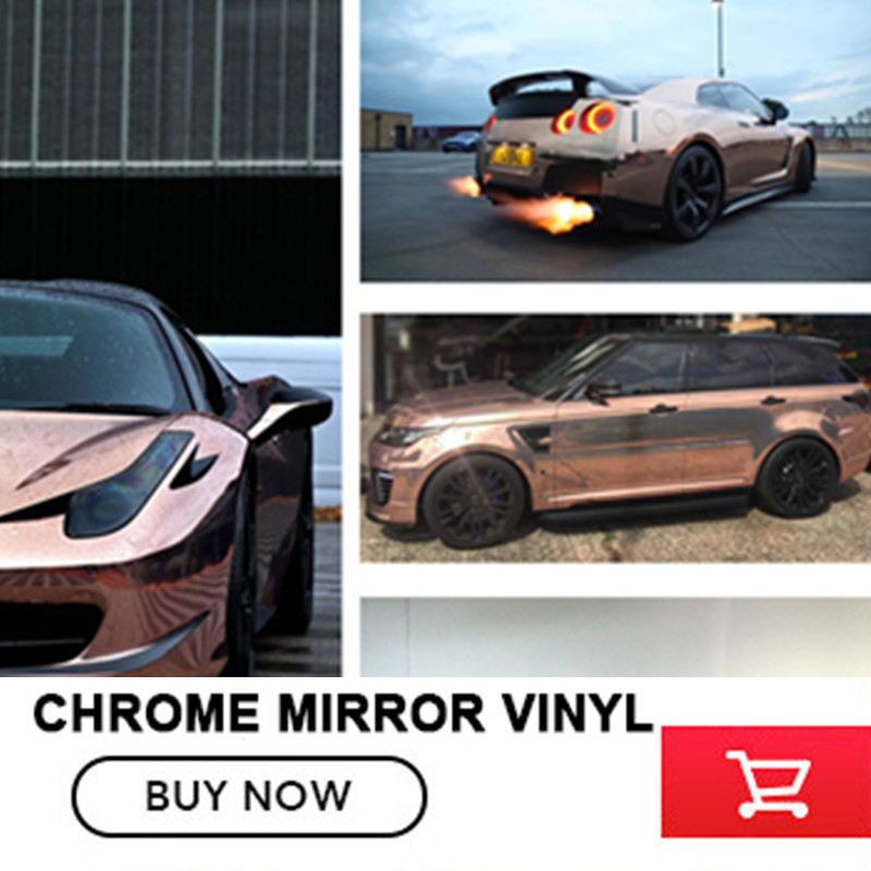 152cm x 20m Rose gold Chrome Mirror Vinyl Wrap Film Car Sticker Waterproof UV Protected Auto  Decal Sheet  free shipping наматрасники candide наматрасник водонепроницаемый waterproof fitted sheet 60x120 см