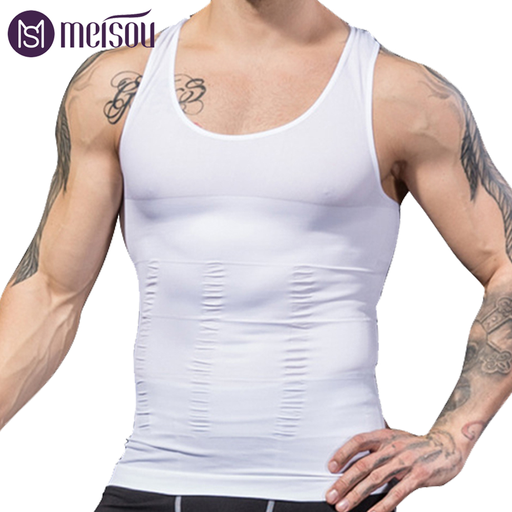 NEW Shapewear Waist Girdle Vest Shirt Handsome Tunic Gentleman Men Bodysuit Slimming Tummy Shaper Belly Underwear plus size tops