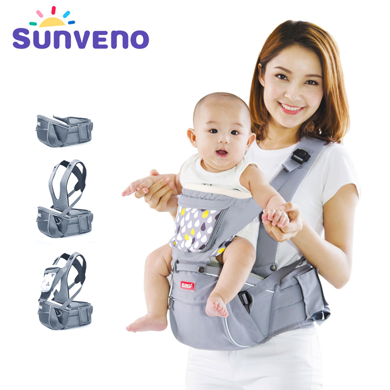 SUNVENO Designer Baby Carrier Infant Toddler Front Facing Carrier Sling Kids Kangaroo Hipseat Baby Care 0-36Months hot sell infant sling comfort baby 0 30 months breathable front facing baby carrier multifunctional infant kangaroo bag