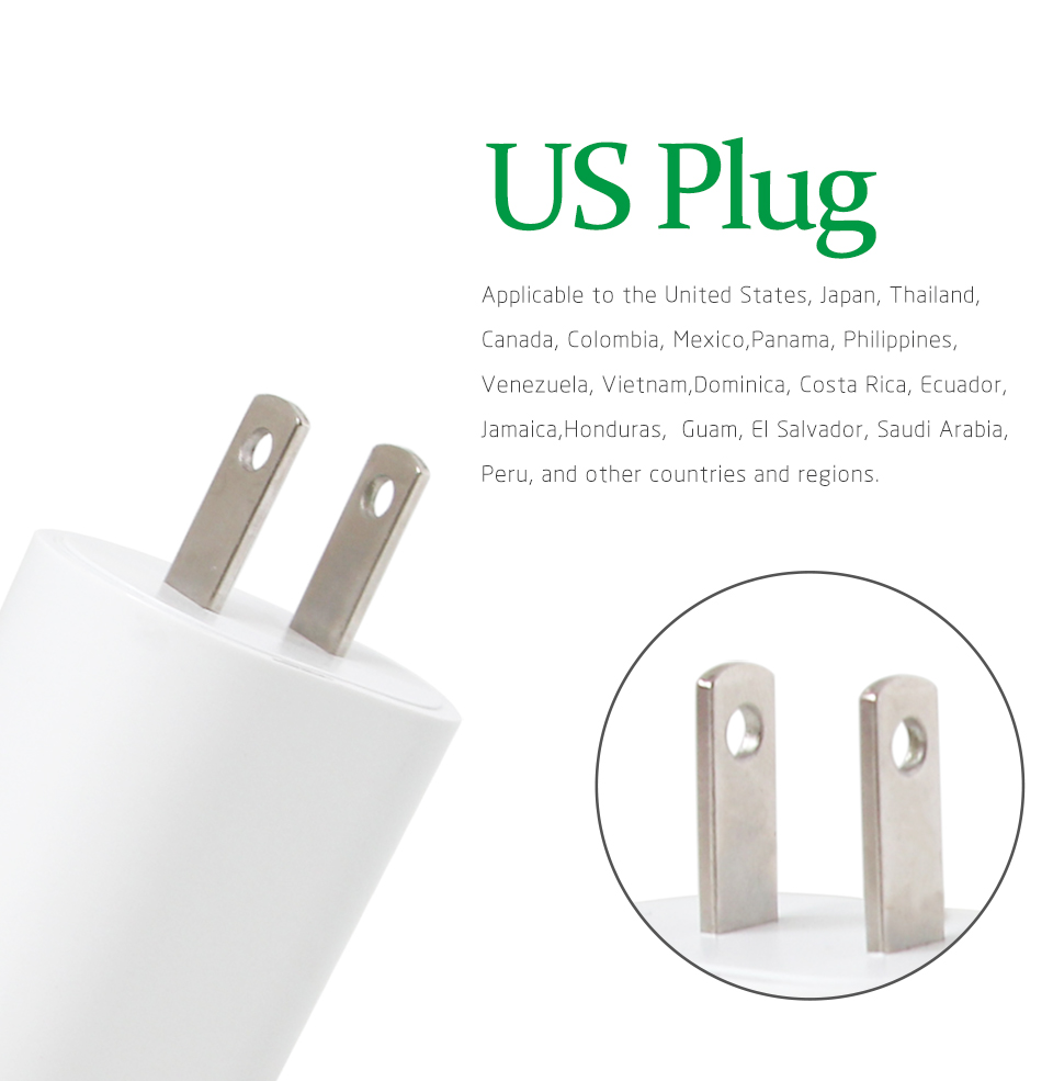 1PC US Adapter 5V2.1A Dual USB Charger For Smart Mobile Phone Charging ACDC Adaptor Travel in Japan Thailand Canada Mexico (4)