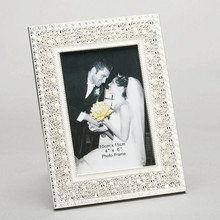Fashion pearl photo frame home decoration luxury pearl bordered photo frame gift