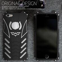 For iphone 6 6S plus case,Armor Heavy Dust Metal Aluminum CNC BATMAN protect Skeleton head phone shell case cover+BATMAN bracket