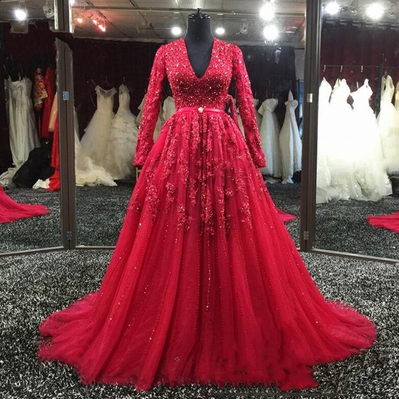 Long Sleeve appliques Lace Mother of the Bride Dresses for Weddings 2019 vestido de madrinha A Line Beaded Evening prom dress in Mother of the Bride Dresses from Weddings Events