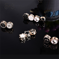 12pcs Set Vintage Flower Elegant Magnet Brooch Classic Fix Pin Hijab Accessories Muslim Scarf Buckle Muslim