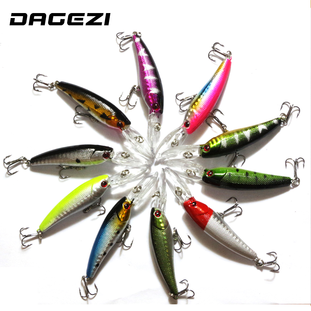 DAGEZI 10pcs/lot Fishing lure Deep swim hard fishing bait 10.5CM 8G artificial baits minnow fishing wobbler pesca