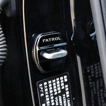 Замок пряжки двери автомобиля защелка крышки Стоп Анти ржавчины замок крышки защиты Пряжка Обложка для Nissan Patrol Y62 2017-2019