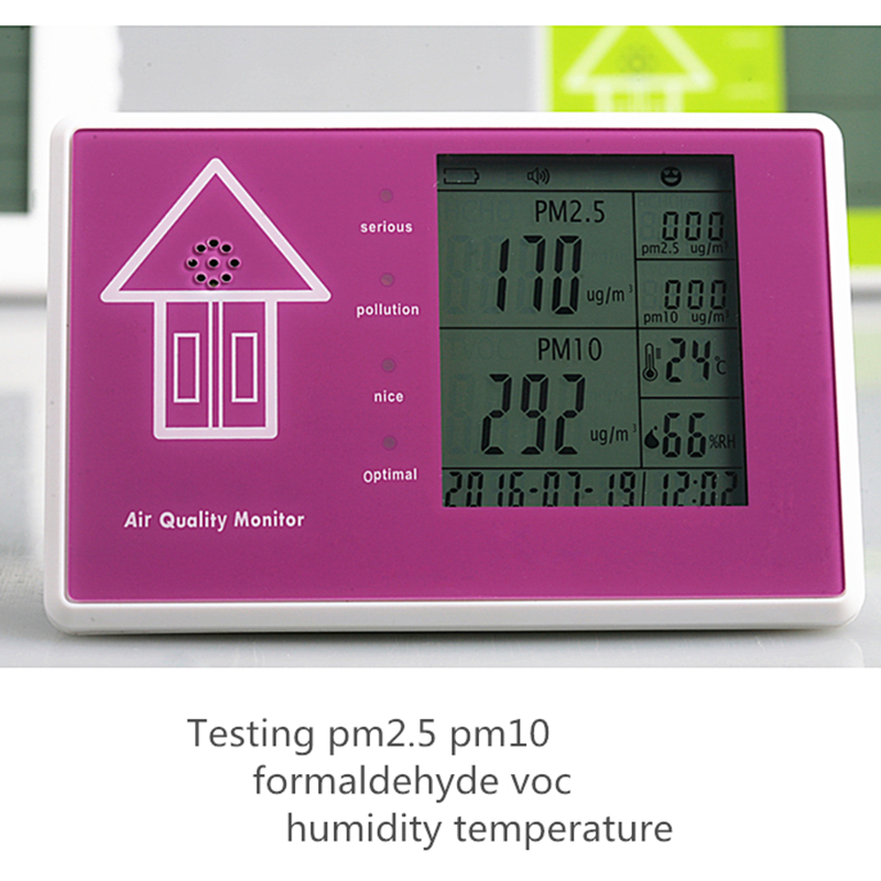 Free shipping personal detector gas leak air portable pm2.5 pm10 sensor formaldehyde detector voc air quality monitor RH  free shipping jsm 131s formaldehyde home gas leak detector