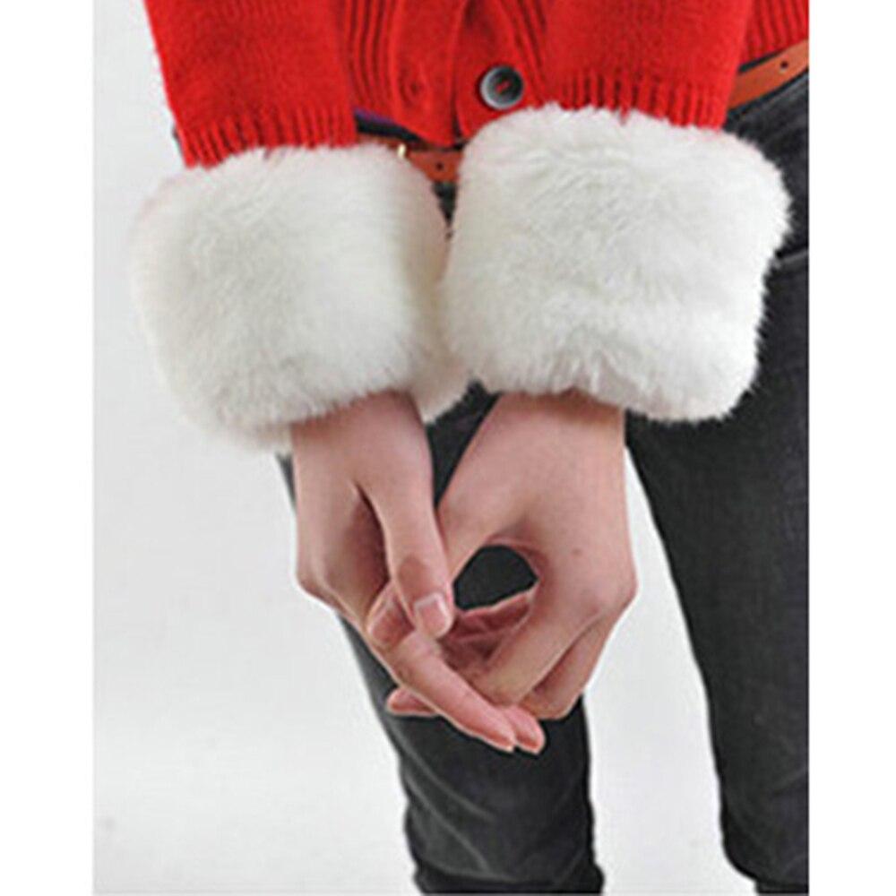 Women Faux Fur Elastic Wrist Warmers Plush Cuff Oversleeve Elastic Gloves Lady Accessories Trappings Cuffs Warm Winter 2018 New