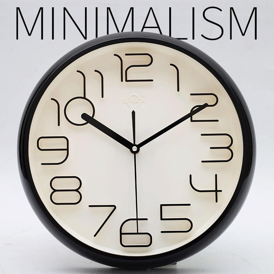 Mode Simple Horloge Murale Design Moderne 3D Quartz Silencieux Mur Horloges Numérique Décoratif Reloj Pared Montre Klok Temps Outil 50A0973