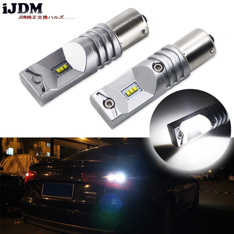 6000K Powered By Luxen LED 1156 7506 BA15s P21W LED Bulbs 12V For Turn Signal Lights, Daytime Running Lights, Reverse Lights