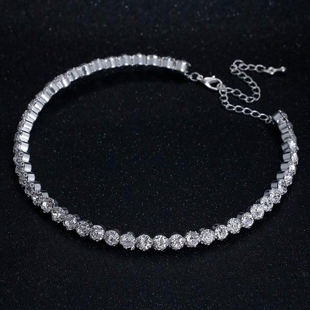 TREAZY Bridal Fashion Crystal Rhinestone Choker Necklace Women Wedding Accessories Tennis Chain Chokers Jewelry Collier Femme 4