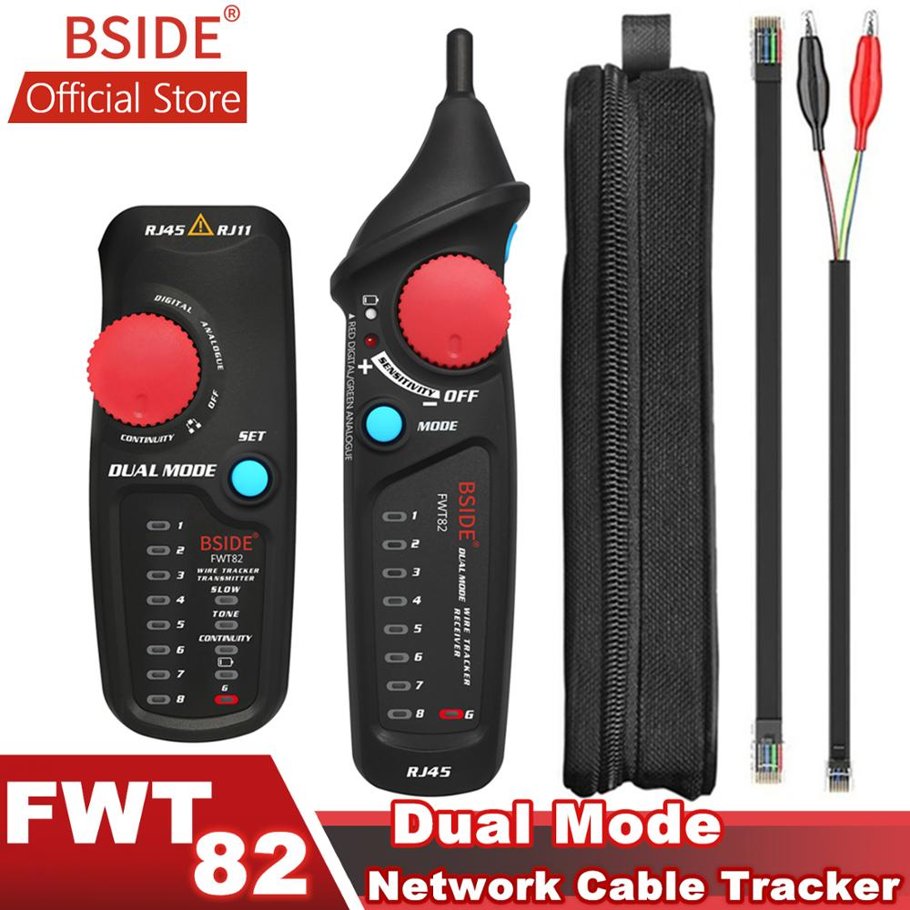 BSIDE FWT82 Dual Mode Network Cable Tracker Wire Toner RJ45 RJ11 Ethernet LAN Tracer Analyzer Detector Line Finder