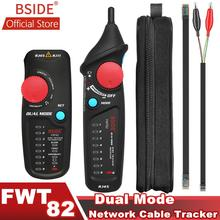 BSIDE FWT82 Dual Mode Network Cable Tracker Wire Toner RJ45 RJ11 Ethernet LAN Tracer Analyzer Detector Line Finder mastech ms6813s rj45 cable tracking finder telephone wire tracker tracer toner network cable tester detector line finder