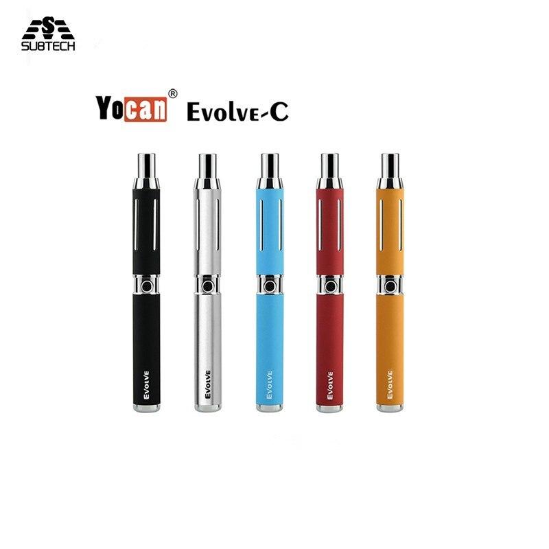 D'origine Yocan Évoluer C cire sèche Vaporisateur Quartz Bobine cigarette électronique stylo avec 1100 mah batterie