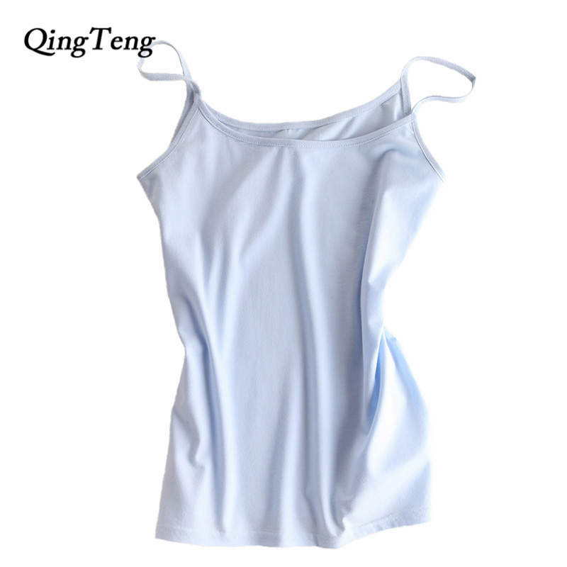 QingTeng Summer Vest Sexy Tank Tops Women Quick Dry Slim Sleeveless Vest Singlet Cotton Wild Tank T-shirt Female Blusas Beach