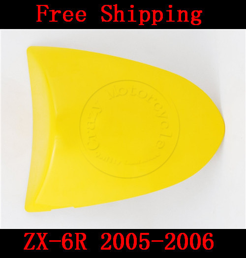 For Kawasaki ZX6R ZX 6R 2005-2006 motorbike seat cover Brand New Motorcycle Yellow fairing rear sear cowl cover Free Shipping for suzuki gsxr 600 gsx r 750 2004 2005 k4 motorbike seat cover brand new motorcycle carbon fairing rear sear cowl cover