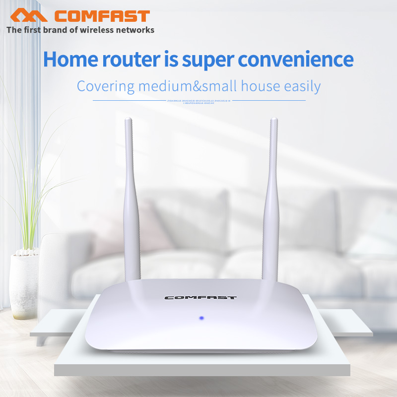 COMFAST 300Mbps Wireless wifi Router mit 2 * 5dBi antennen CF-WR623N Home Netzwerk Access Point <font><b>1</b></font> WAN + <font><b>3</b></font> LAN RJ45 port <font><b>wi</b></font> <font><b>fi</b></font> Router image