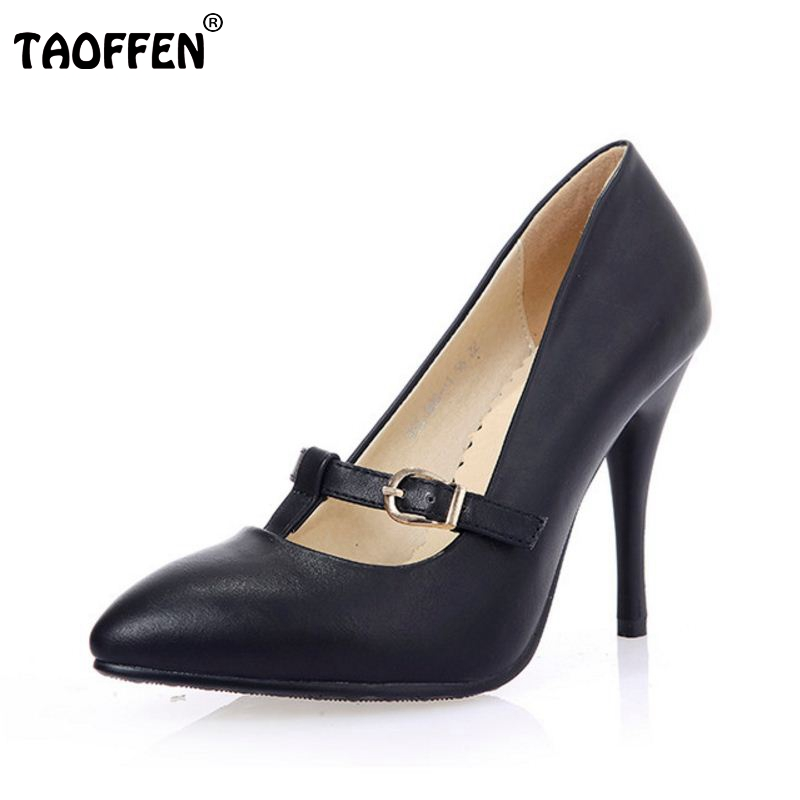 c2186a92f7 women stiletto high heel shoes buckle lady sexy spring female fashion  heeled pumps heels shoes plus big size 32-44 P16847