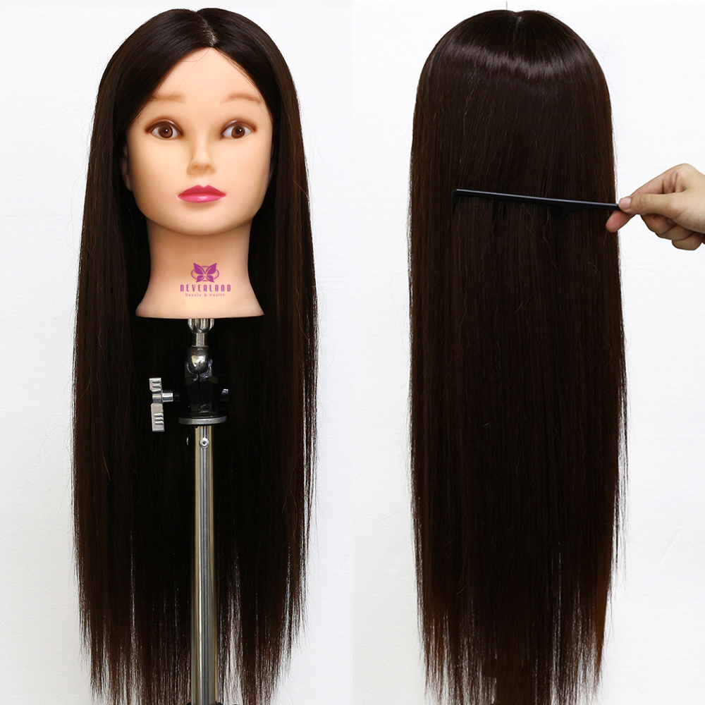 styling real hair 26 quot 4 30 real hair hairdressing mannequin styling 4978