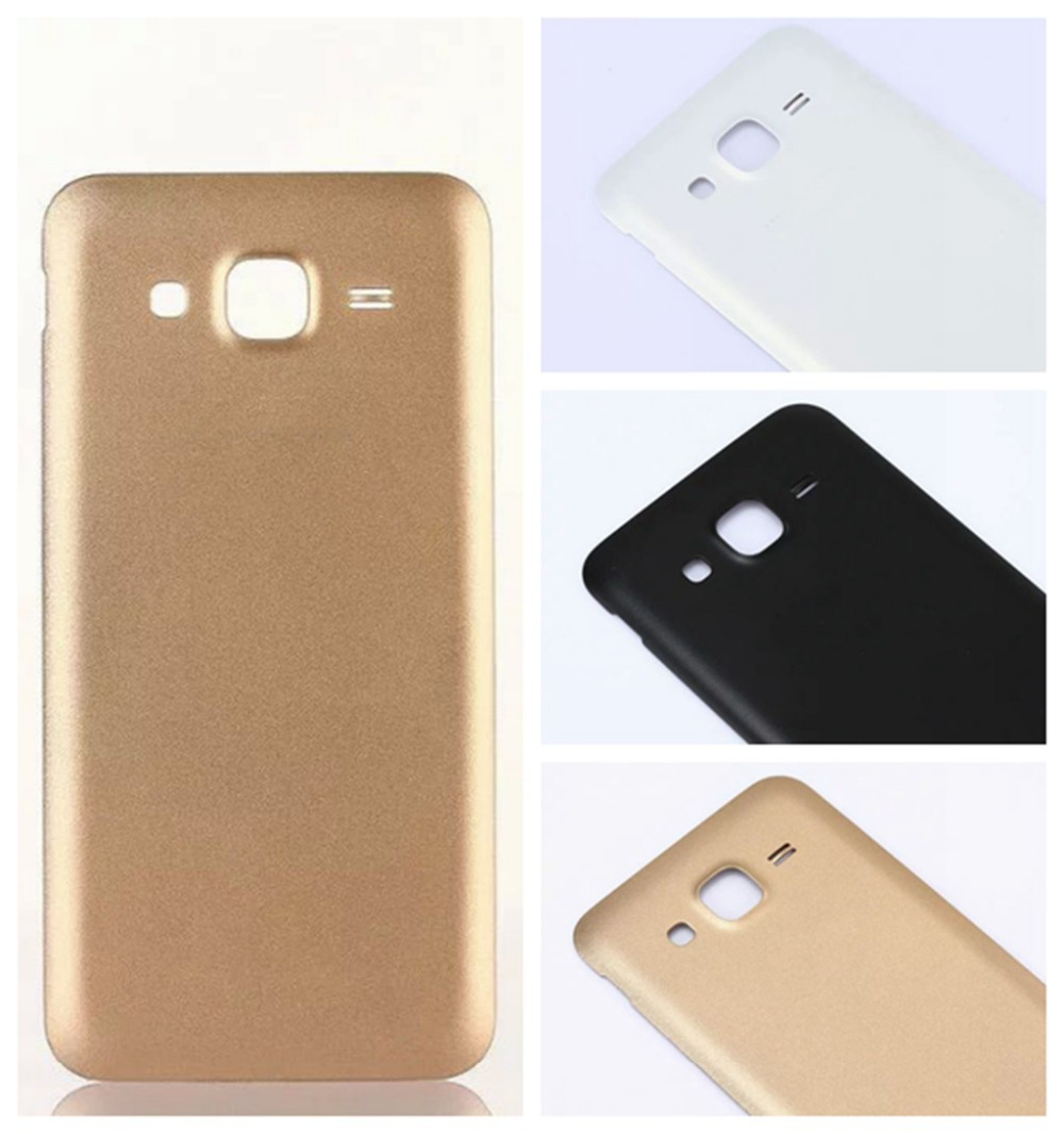 j5 Battery Case Gold Black Glass Battery Door Housing Back Cover for Samsung Galaxy J5 2015 J500F replacement Phone parts bn505