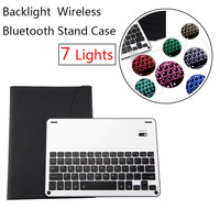 Aluminum Keyboard Cover Case With Backlight Backlit Wireless Bluetooth Keyboard Power Bank For Ipad Air 2