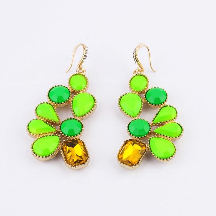 $10 Free Shipping Fashion Neon Green Earrings earrings