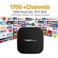 Europa Canales de IPTV Árabe Francés octa-core Android TV Box T95RPRO S912 3G 32G Italia Deporte Canal Plus Francés Iptv Set Top Box