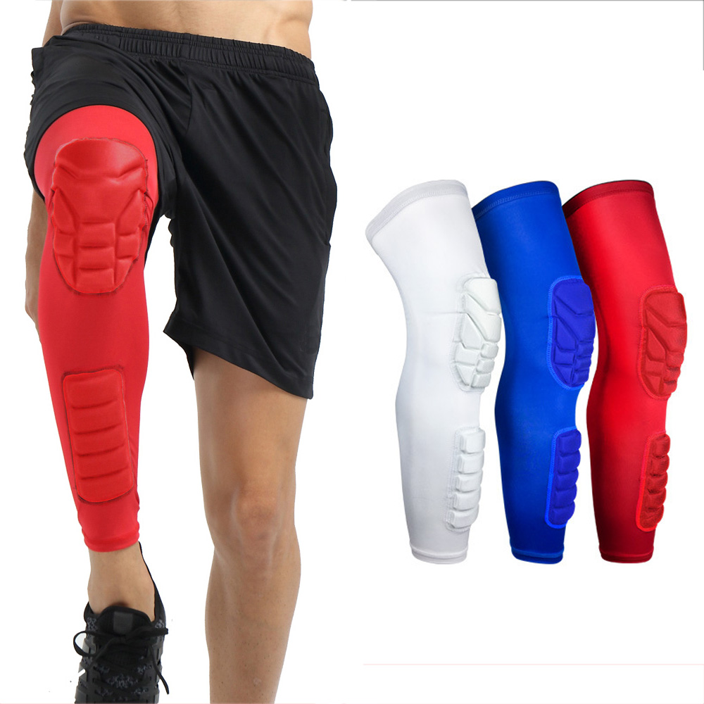 Sports Knee Pads Basketball Long Sleeve Knee Calf Anti-collision Protective Gear SPSLF0053