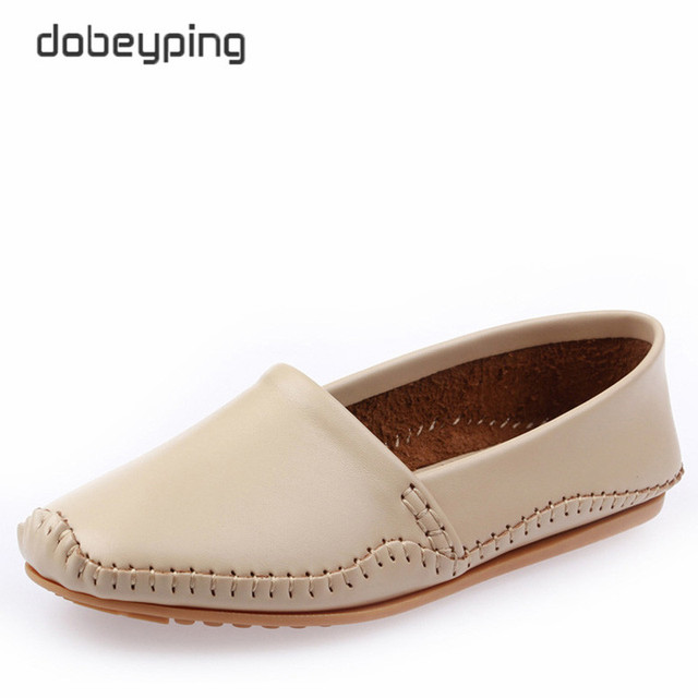 New Women's Casual Shoes Fashion Genuine Leather Women Flats Slip On Woman Loafers Moccasins Driving Ladies Shoe Zapatos Mujer