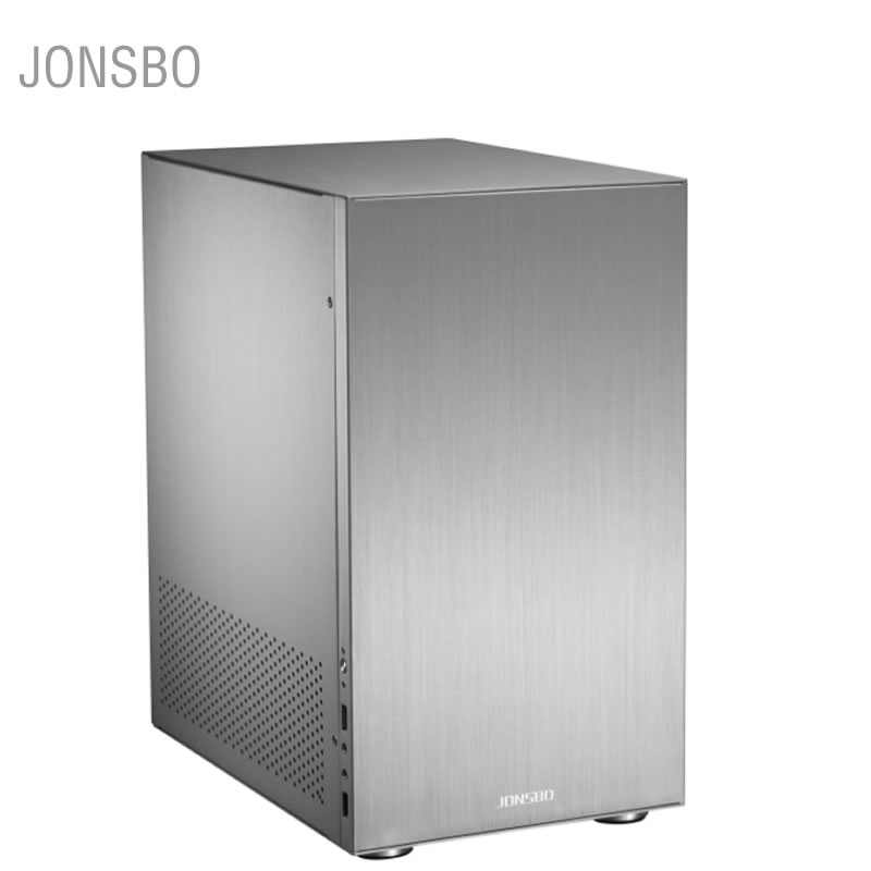 JONSBO C3 Aluminum Alloy ITX MATX HTPC small chassis USB3.0 mini desktop computer case realan aluminum mini itx desktop pc case e i7 with power supply cd rom slots black silver