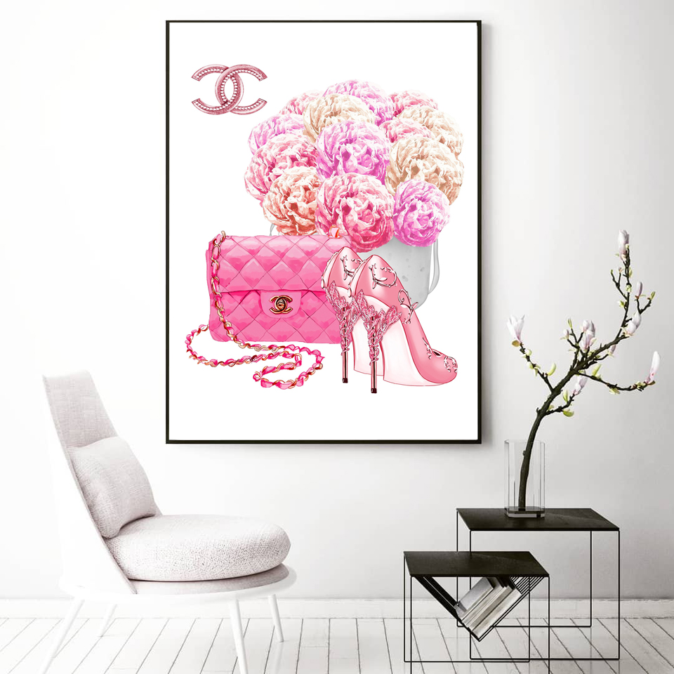 Cuadros Decoracion Perfume Bottle Fashion Shoes Wall Pop Art Prints and Posters Canvas paintings For living room Decor No Frame