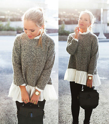 Harajuku Women Long Sleeve Loose Knitted font b Hoodie b font Jumper Knitwear Outwear Coat Sudaderas